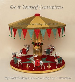 DIY Merry Go Round/Carousel with Deer - A Christmas Decoration