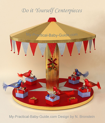 A Merry Go Round Centerpiece with birds A Christmas Decoration