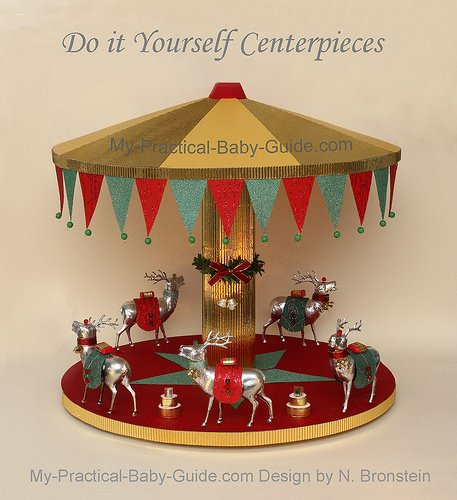 DIY A Merry Go Round/Carousel with Deer - A Christmas Decoration