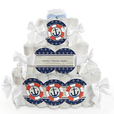 Nautical Baby Shower Diaper Cake