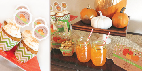 Halloween Baby Shower Dessert Table