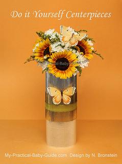 DIY Sunflower & Chrysanthemum Flower Arrangement