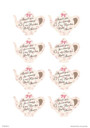 Free Printable Tea Party Thank You Cards