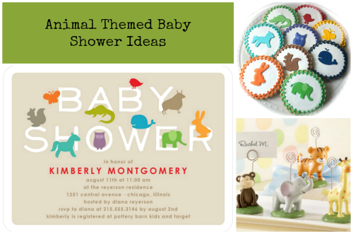 Animal Themed Baby Shower Inspiration Board