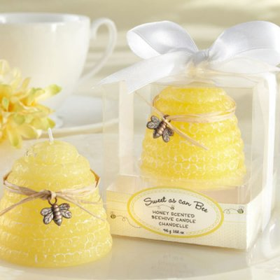 Bee Baby Shower Favor Candle