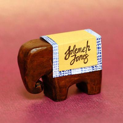 DIY Elephant  Baby Shower Place Card Holder  Favor