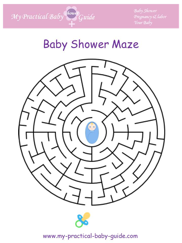 Baby Shower Game Maze