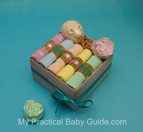 Baby Washcloths Gift Box for Mom To Be