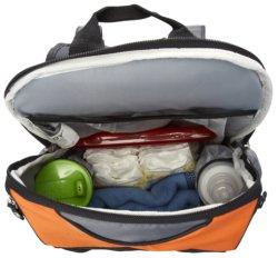 Baby Essentials Orange & Gray Backpack