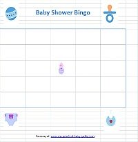 Free Printable Boy Baby Shower Bingo Cards Game