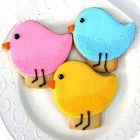 bird baby shower cookies