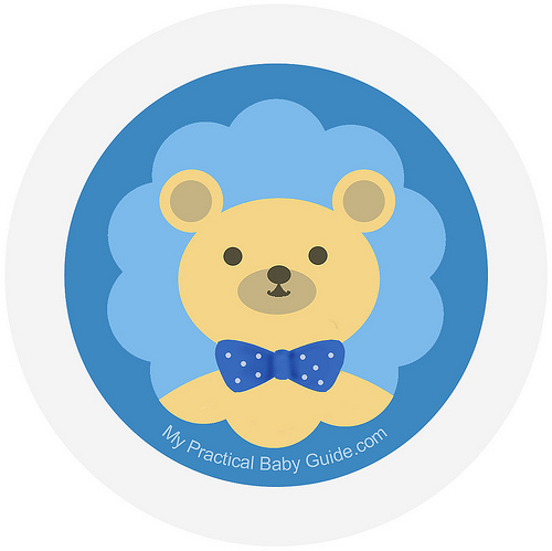 Free Printable Boy Bear Baby Shower Cupcake Toppers