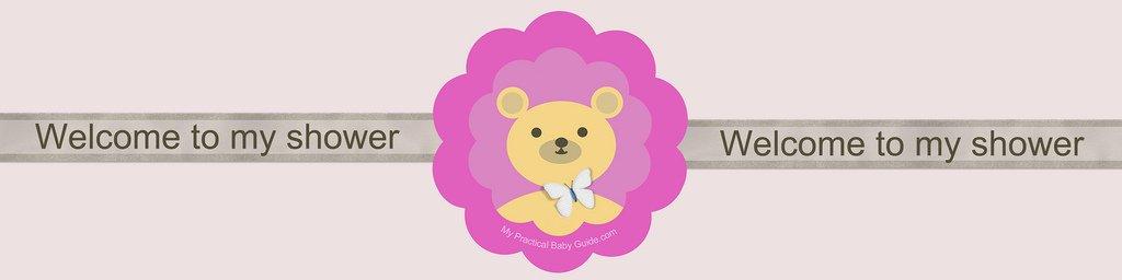 Free Printable Bear Girl Baby Shower Custom Bottle Label