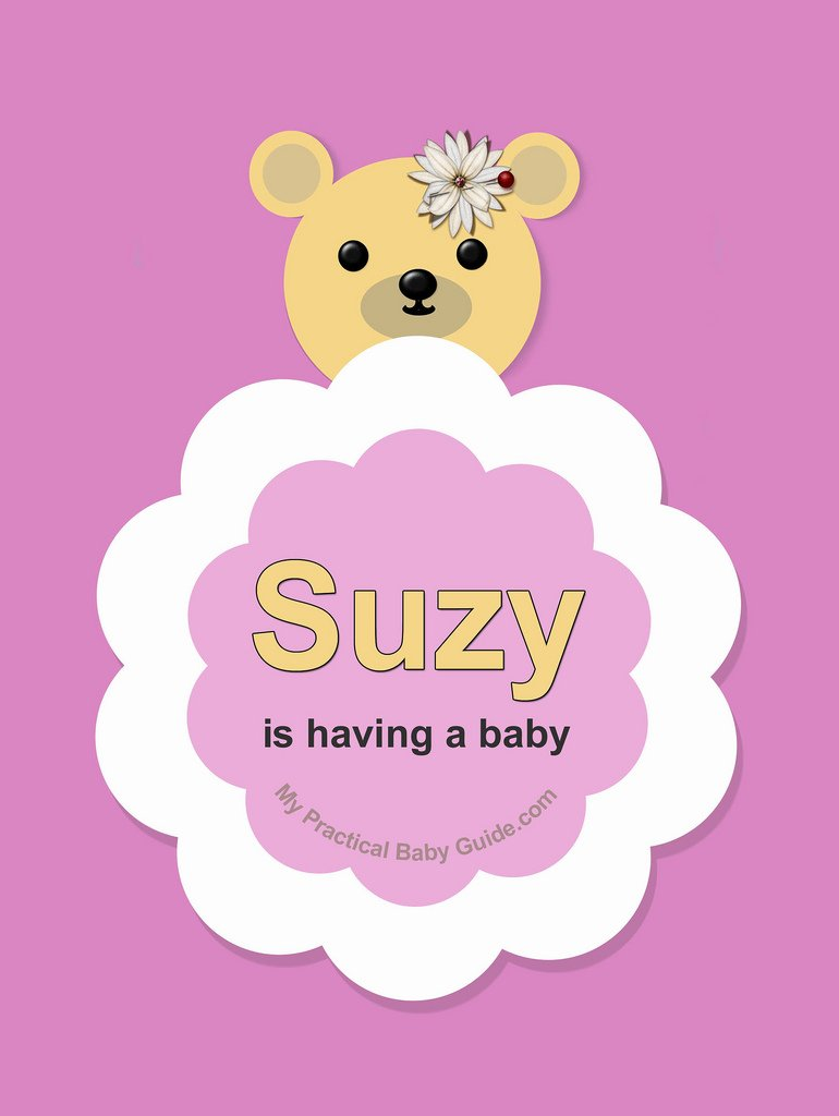 Free Printable Girl Bear Baby Shower Invitation