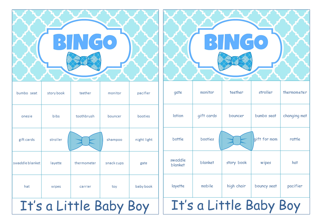 Little Man Themed Baby Shower Pre Filled Cards with Baby Gift Words