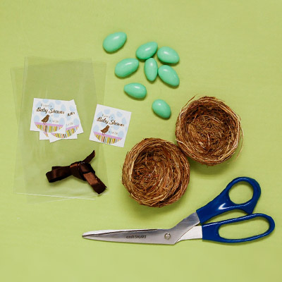DIY Bird Nest Baby Shower Favor