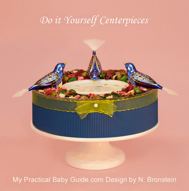 DIY Bird Baby Shower Centerpiece