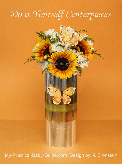 Sunflower & Chrysanthemum Flower Arrangement for a Baby Shower
