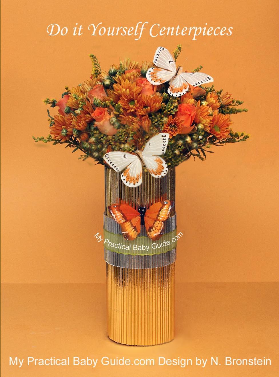 Chrysanthemum & Roses Flower Arrangement for a Baby Shower