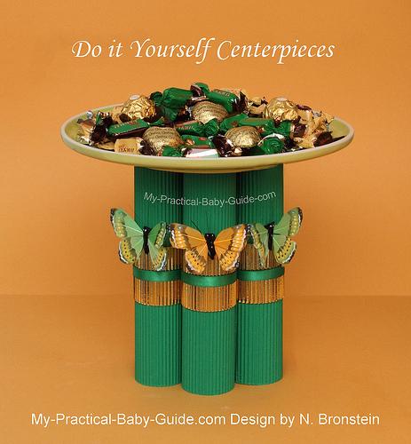 DIY Candy & Butterfly Centerpiece