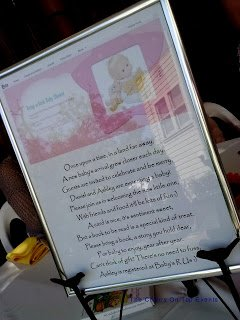Framed Version of E-Vite Baby Shower
