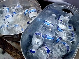 Tins Full with Cold Water Bottles