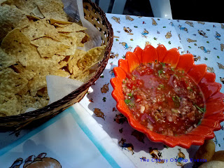 Baby Shower Appetizers -  Chips and Homemade Salsa