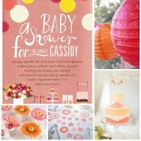 Coral Baby Shower Ideas