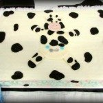Cow Baby Shower Cake