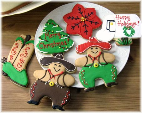 Decorated Cowboy Baby Shower Cookies