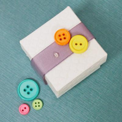 Cute as a Button Baby Shower Favor Box