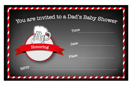 Free Printable Dad's Baby Shower Invitation