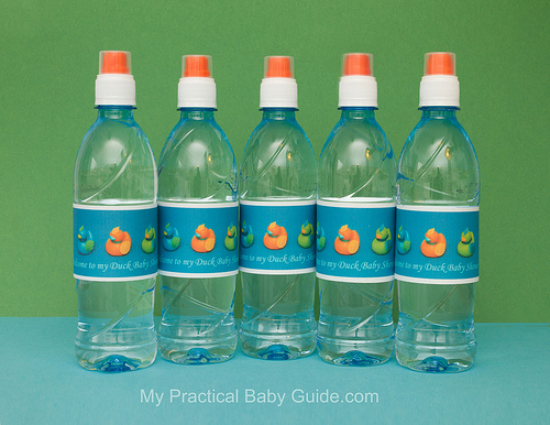 Free Printable Duck Baby Shower Bottle Labels