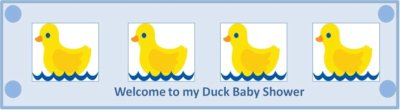 duck baby shower custom bottle label