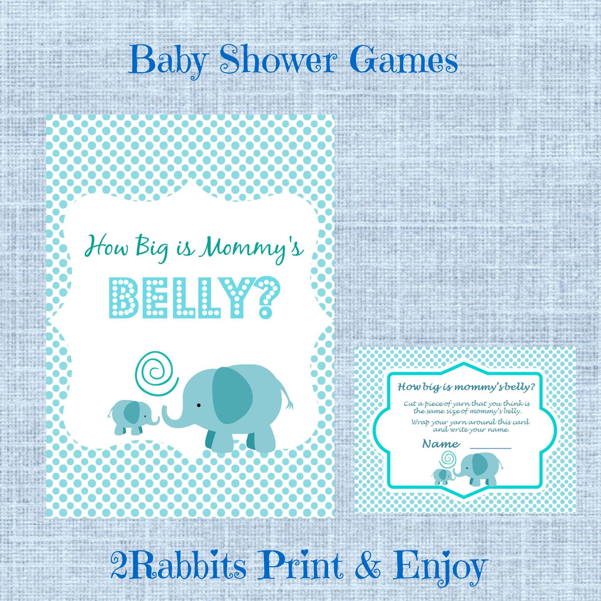 Guess How Big is Mommy's Belly Printable  Baby Shower Game