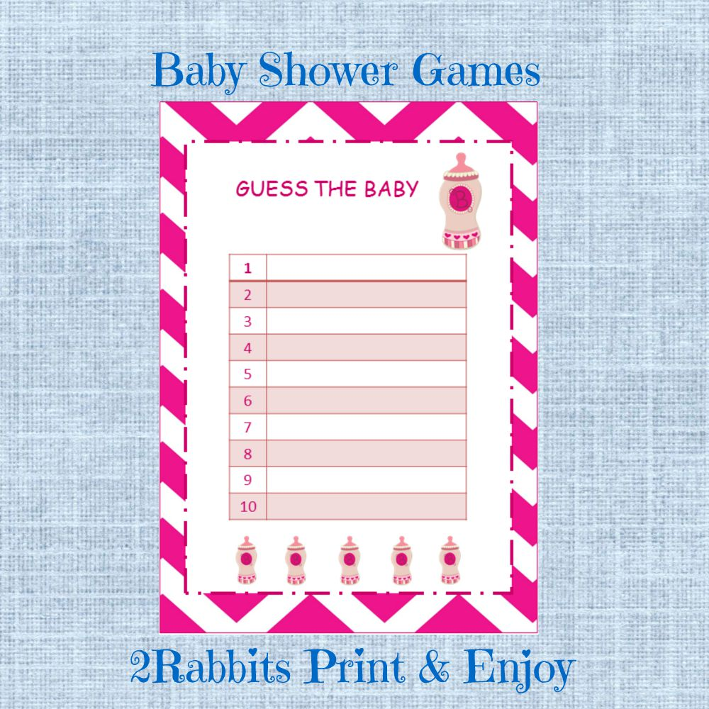 Printable Baby Shower Game Guess the Baby Food