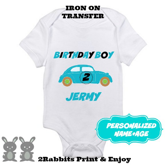 Car Birthday Iron On Transfer