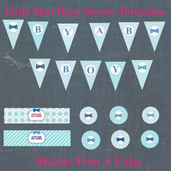 little Man Baby Shower Decoration Ideas