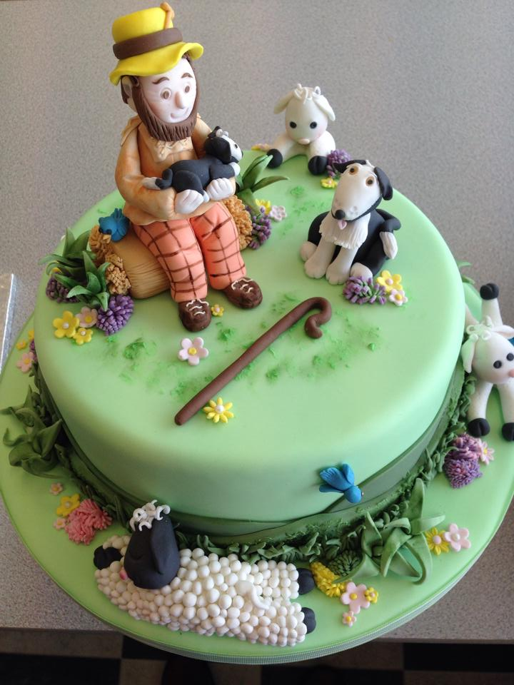 A Shepherd and his Sheep - Farm Themed Cake