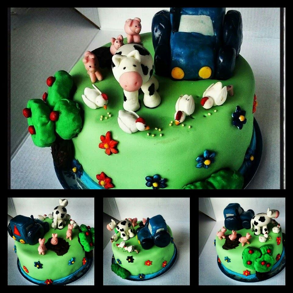 Pigs, Cows and Duck - Farm Themed Cake