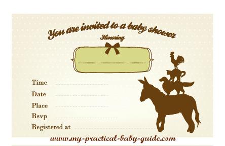 Free Printable Farm Baby Shower Invitation