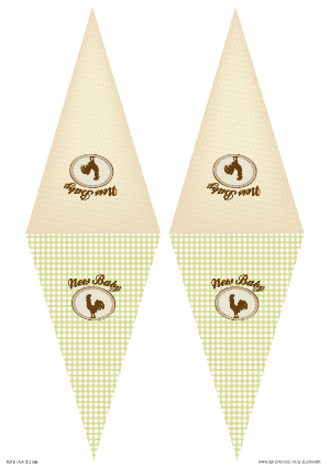 Free Printable Triangle Banner Farm Baby Shower