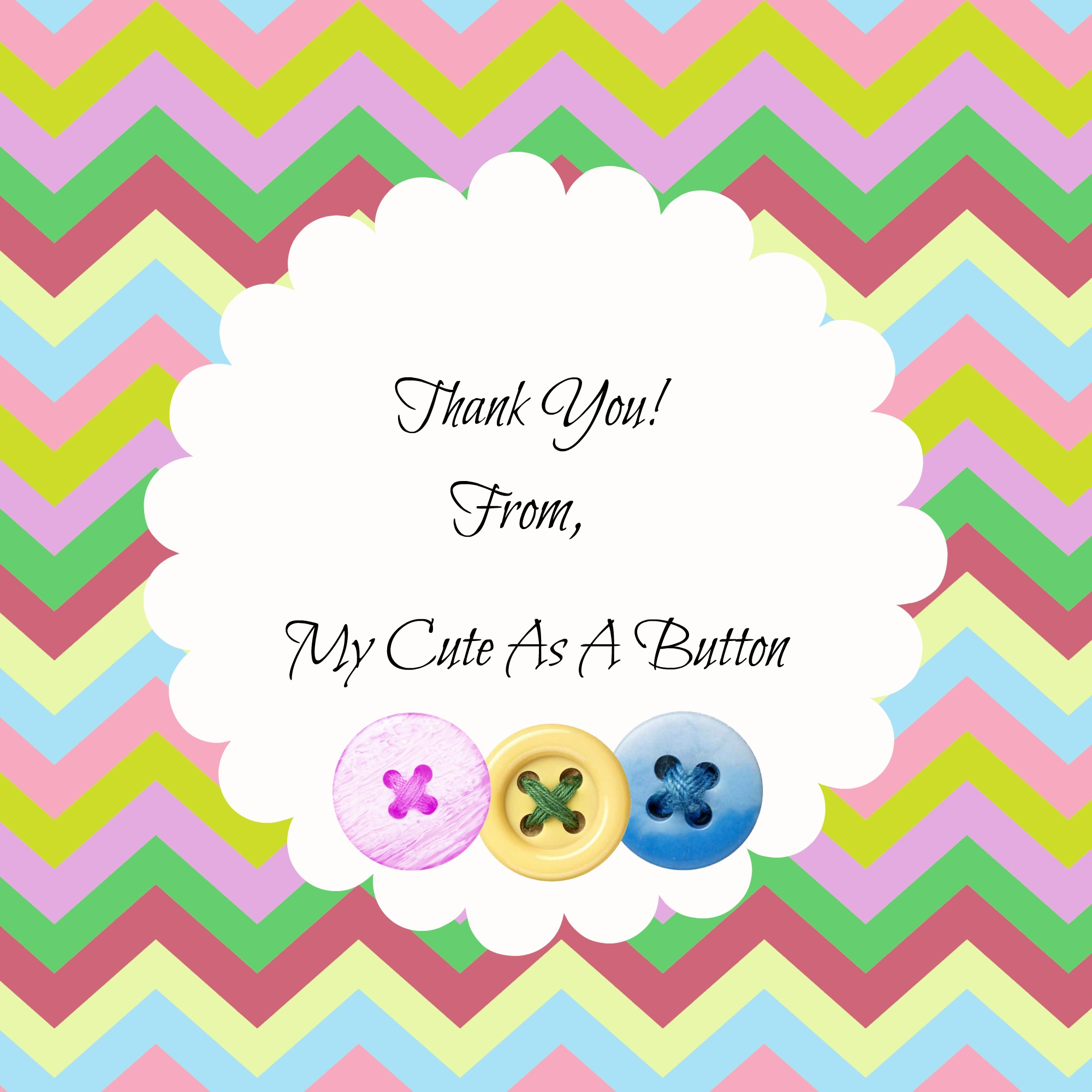 Free Printable Cute As A Button Thank You Gift Tags
