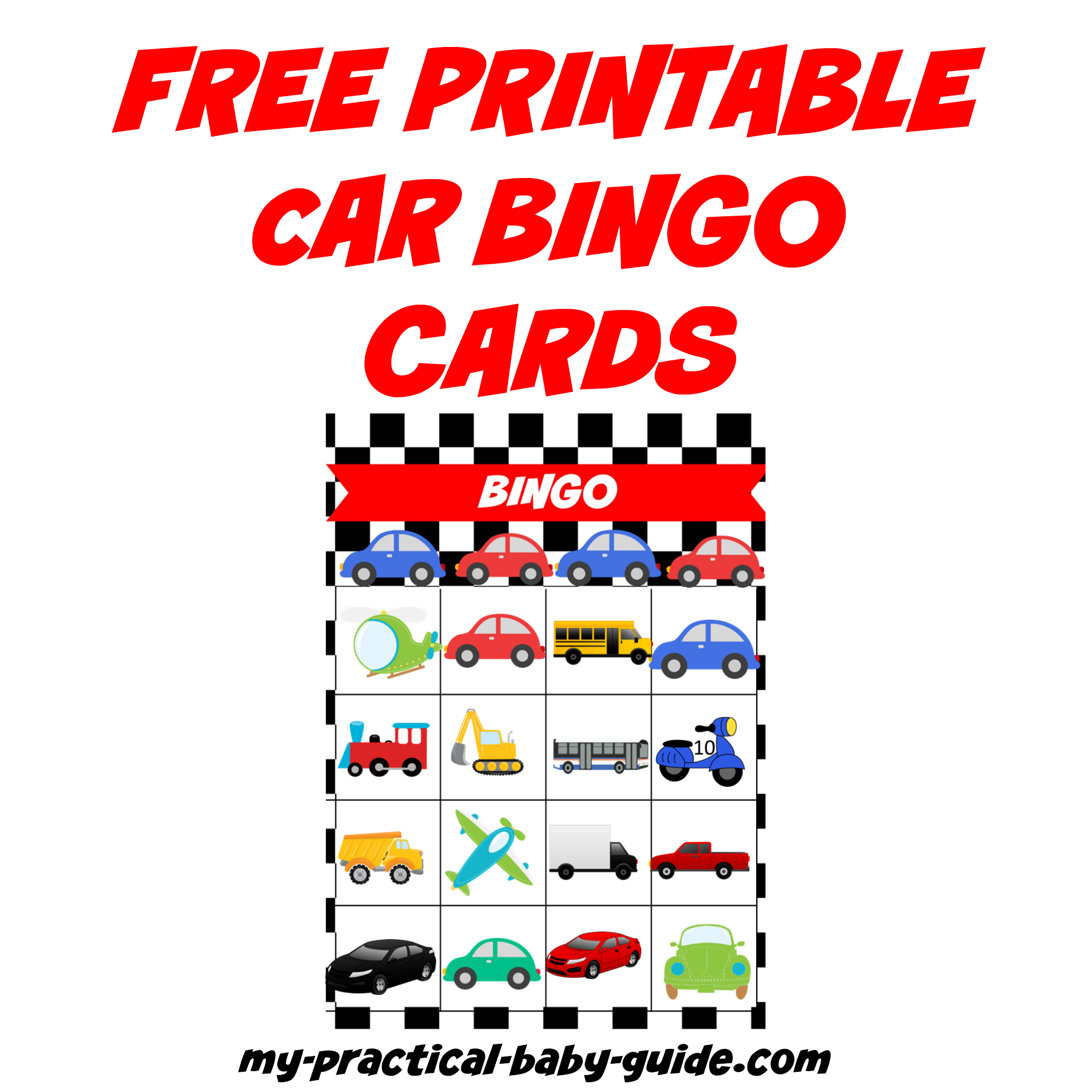 Free Car Birthday Bingo Cards