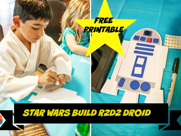 Free Printable Star Wars R2 D2 Droid Craft Template