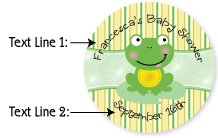 Personalized Frog Baby Shower Cupcake Topper