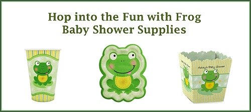 Frog Baby Shower Supplies