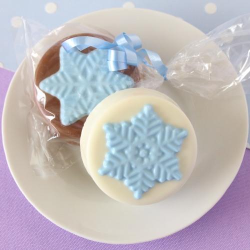 Snowflake Chocolate Covered Oreo Cookies