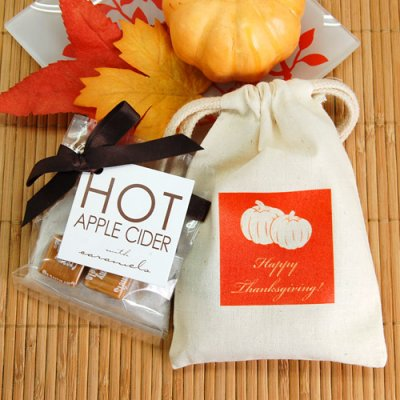 Halloween Natural Cotton Favor Bag