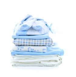 Stack of Baby Boy/Girl Cloths Centerpieces